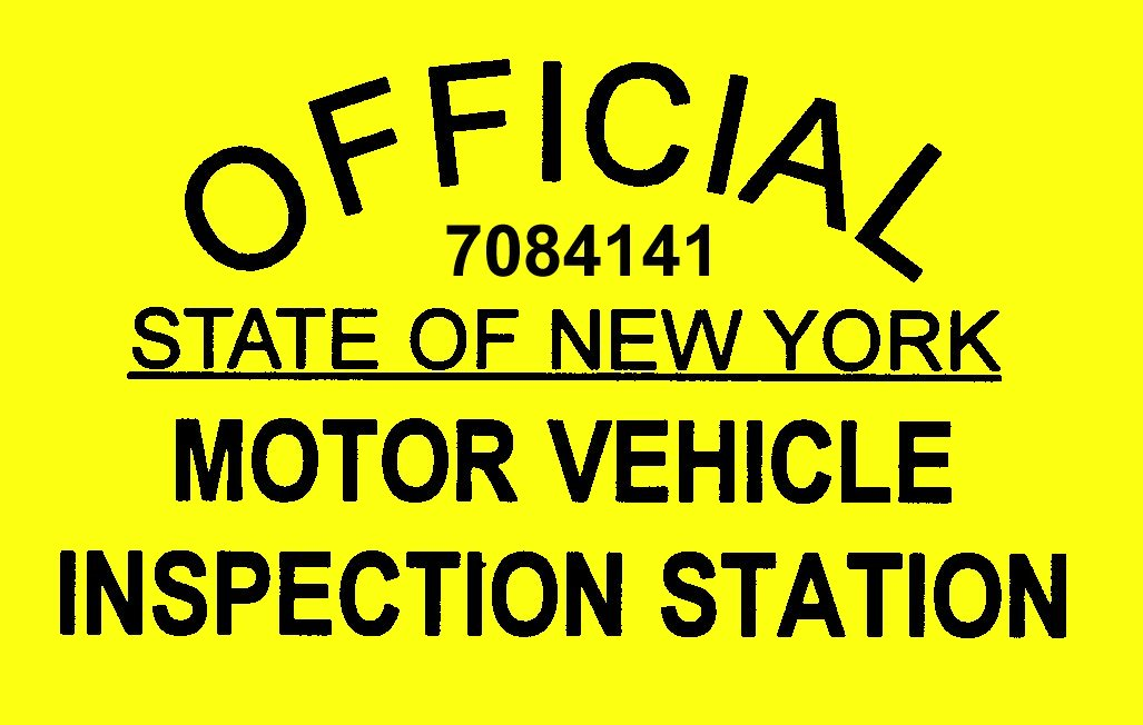 Nys inspections rv lawn sport inc 8950 turin road for Motor vehicle inspection station
